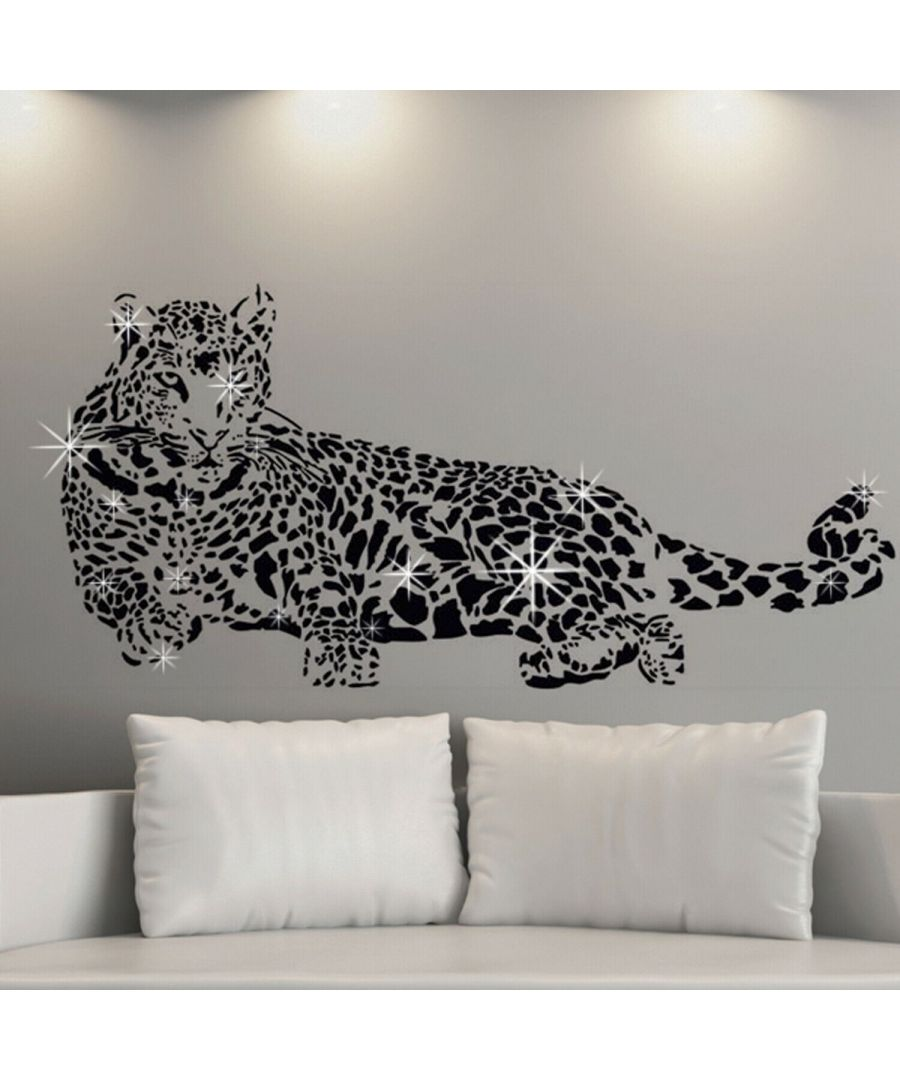 Image for Combo of  LEOPARD + Swarovski 38pcs Wall Stickers, Kitchen, Bathroom, Living room, Self-adhesive, decal
