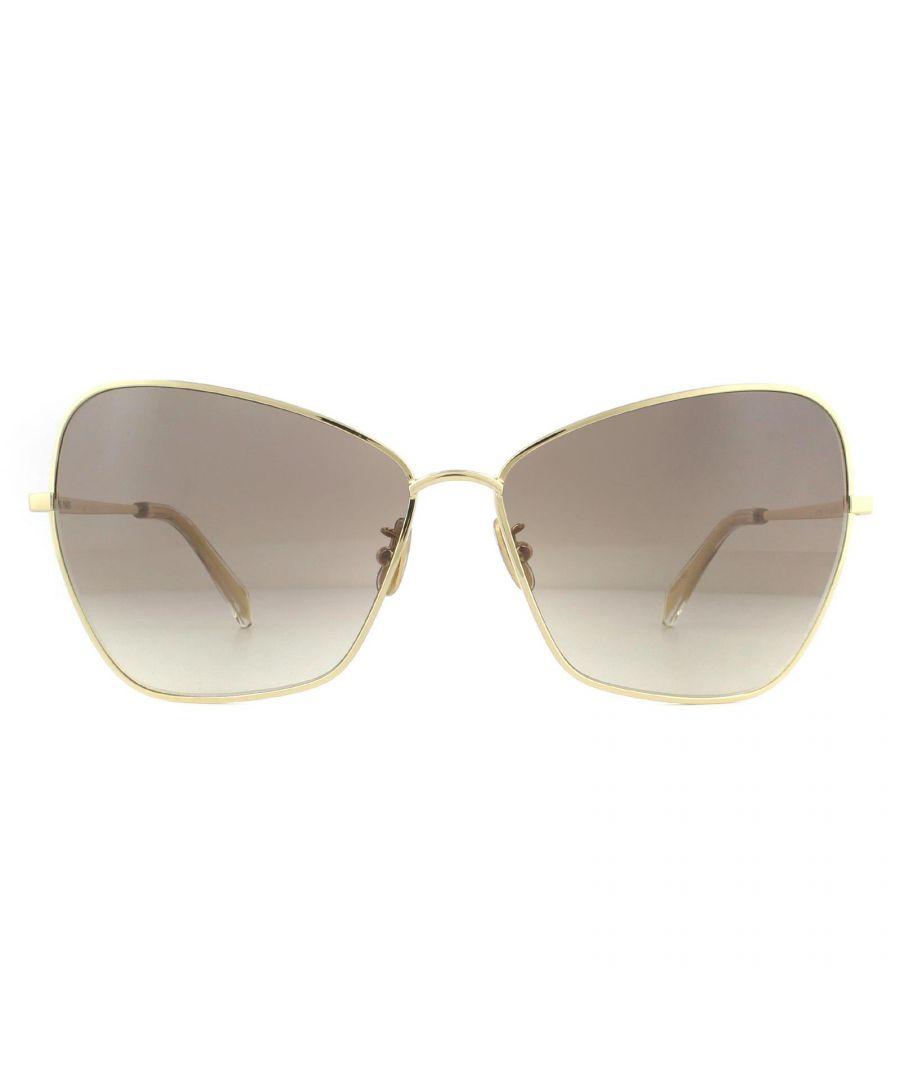 Image for Celine Sunglasses CL40080U 30F Shiny Endura Gold Brown Gradient