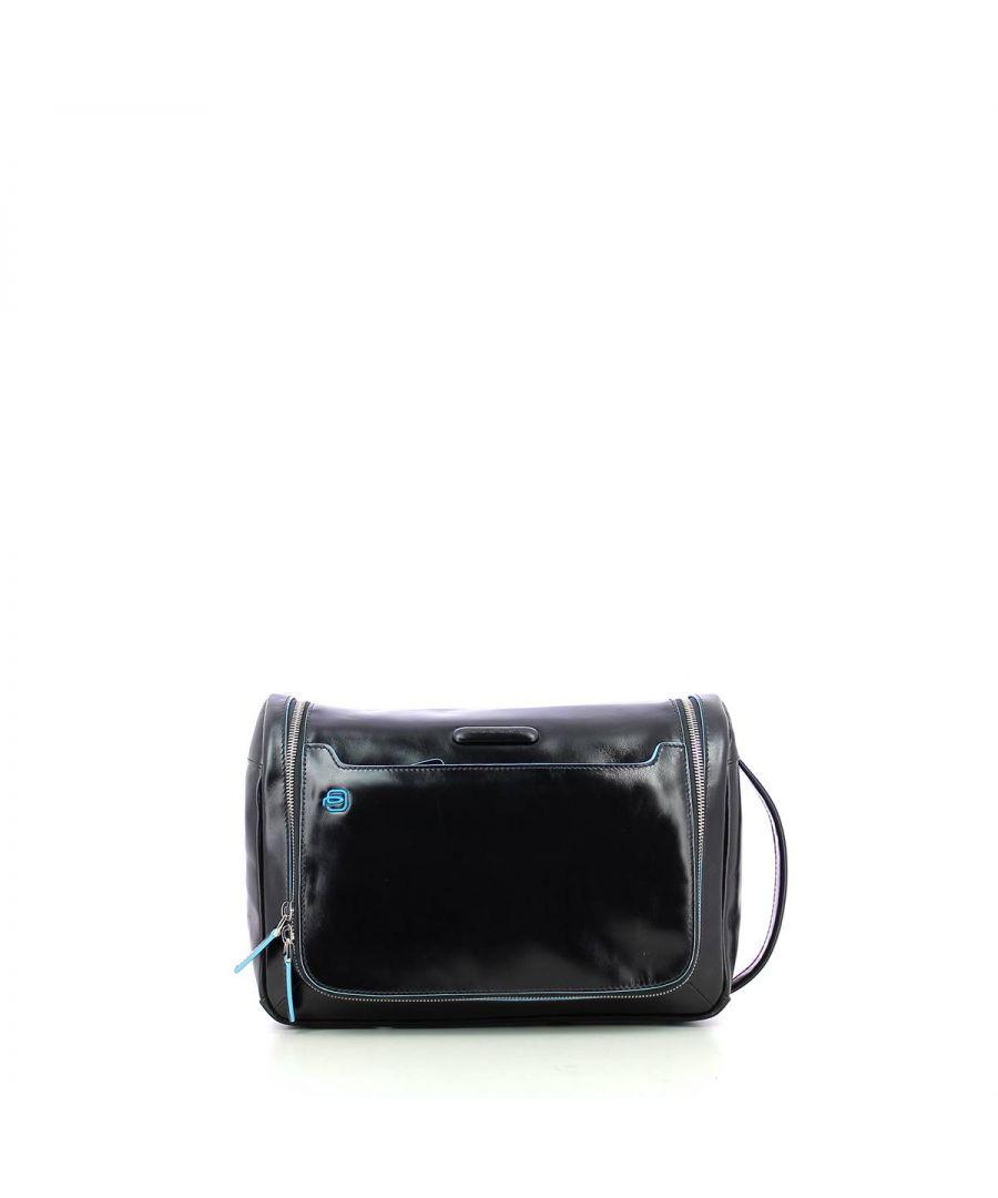 Image for Cosmetic Case Blue Square Piquadro NERO