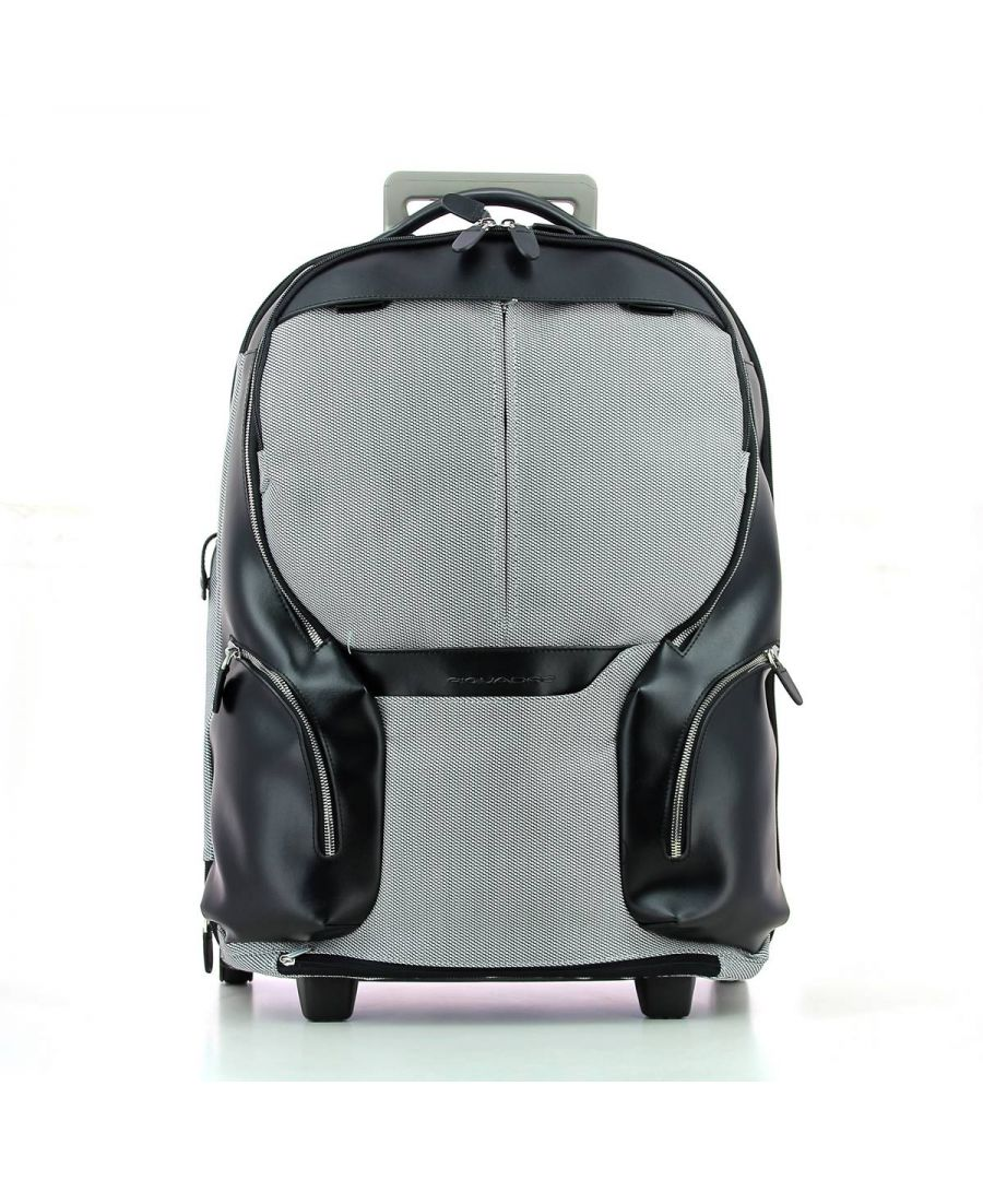 Image for Cabin trolley convertible Lapotp Backpack Coleos 17.3 Piquadro NERO BIANCO