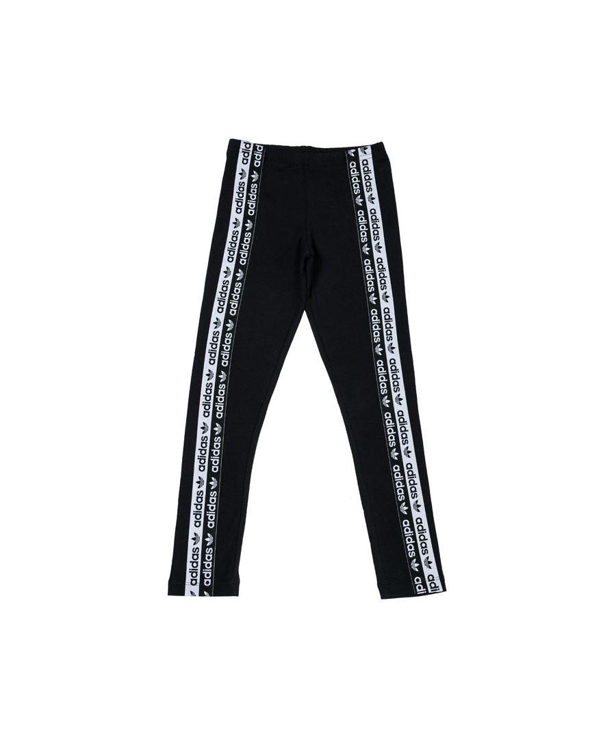 Image for Girls' adidas Originals Junior Leggings Black 8-9In Black