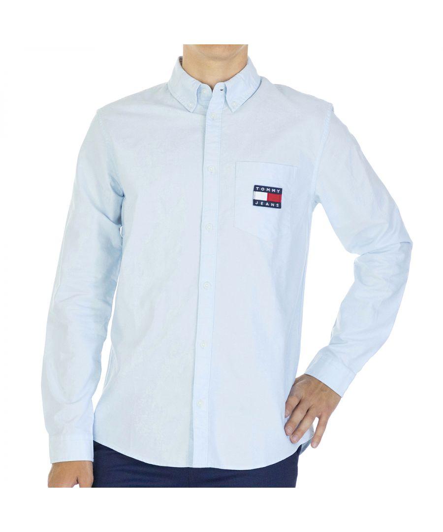 Image for Tommy Hilfiger Men Shirt Oxford   Full sleeve Light Blue