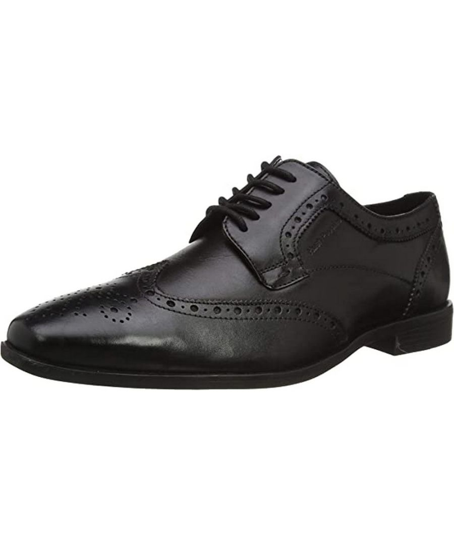 Image for Hush Puppies Boys Elliot Leather Brogues (Black)