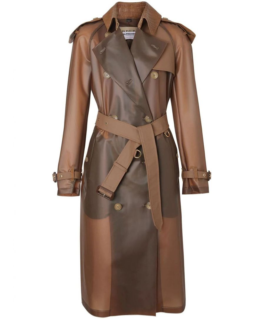 Image for BURBERRY WOMEN'S 8016925 BROWN LEATHER TRENCH COAT