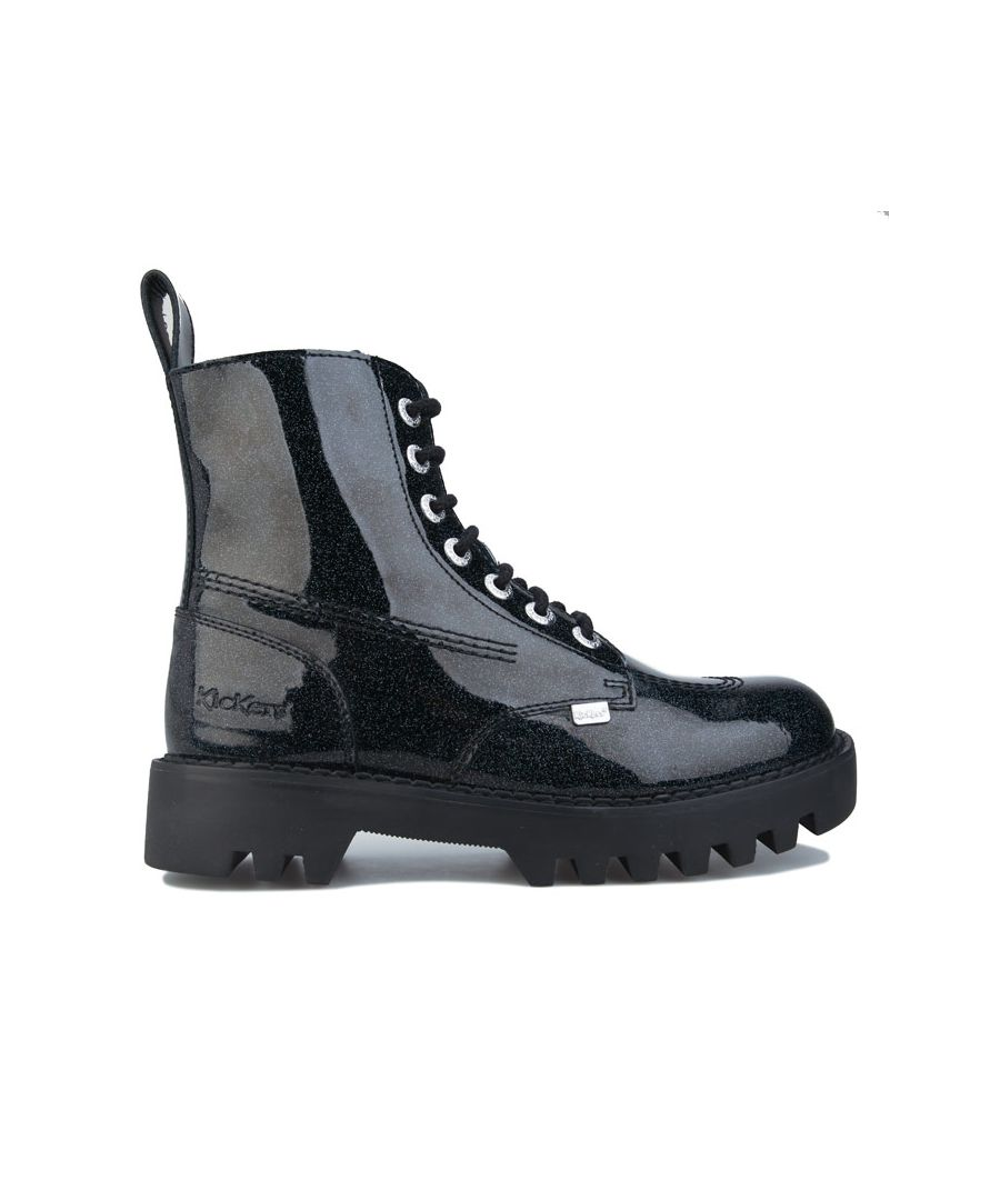 Image for Women's Kickers Kizziie Higher Patent Leather Boots in Black