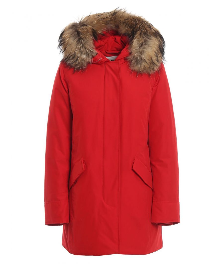 Image for WOOLRICH WOMEN'S WWCPS2762UT0001MSC RED COTTON OUTERWEAR JACKET