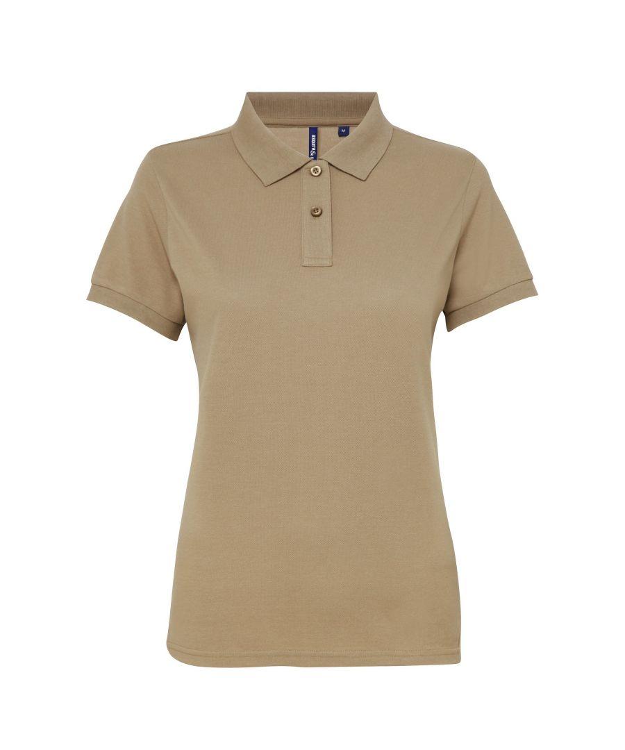 Image for Asquith & Fox Womens/Ladies Short Sleeve Performance Blend Polo Shirt (Khaki)