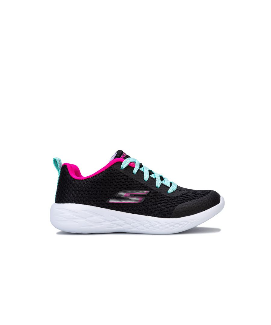 Image for Girl's Skechers Children Go Run 600 Fun Run Trainers in Black