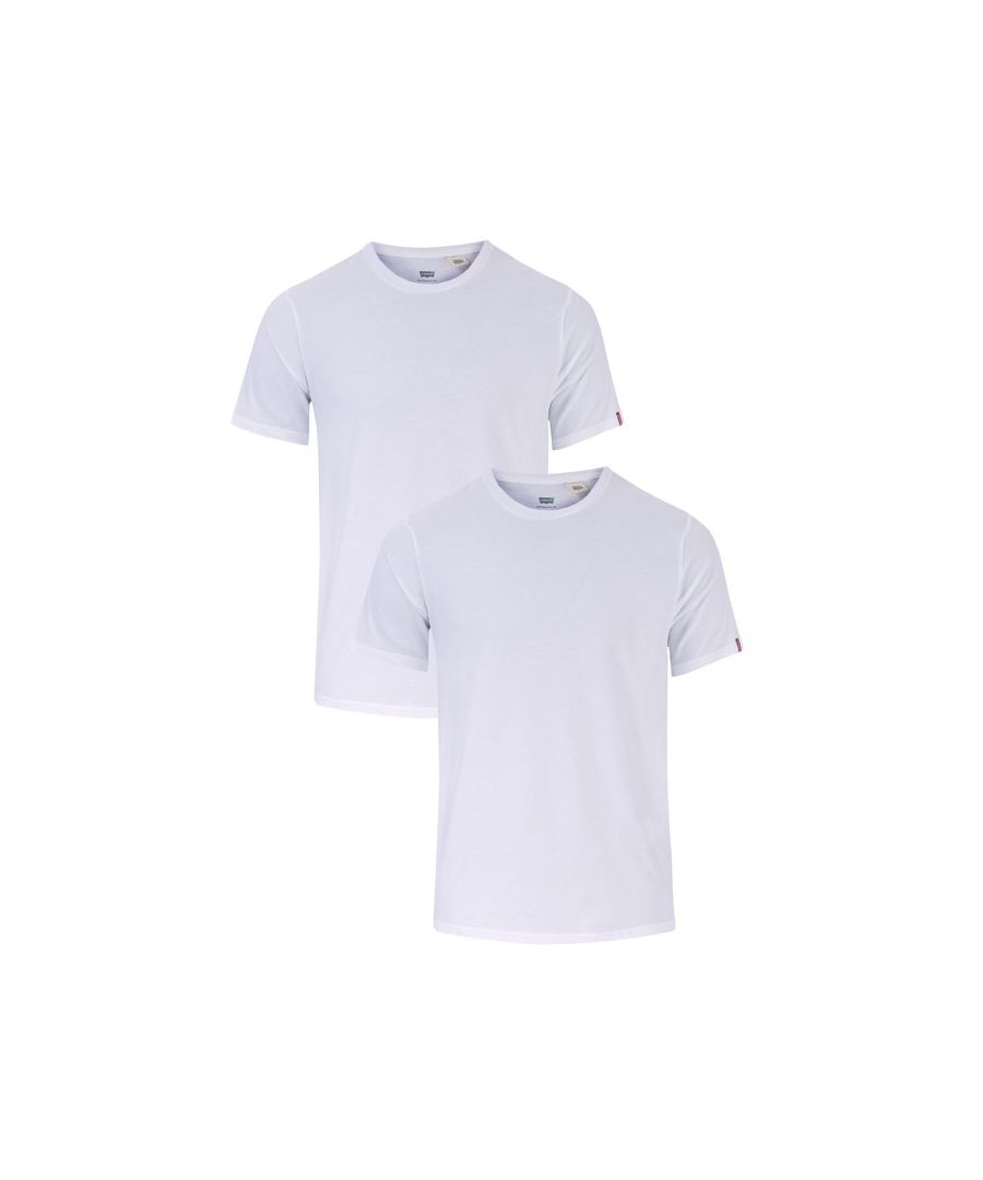 Image for Men's Levis Slim 2 Pack Crew T-Shirts in White