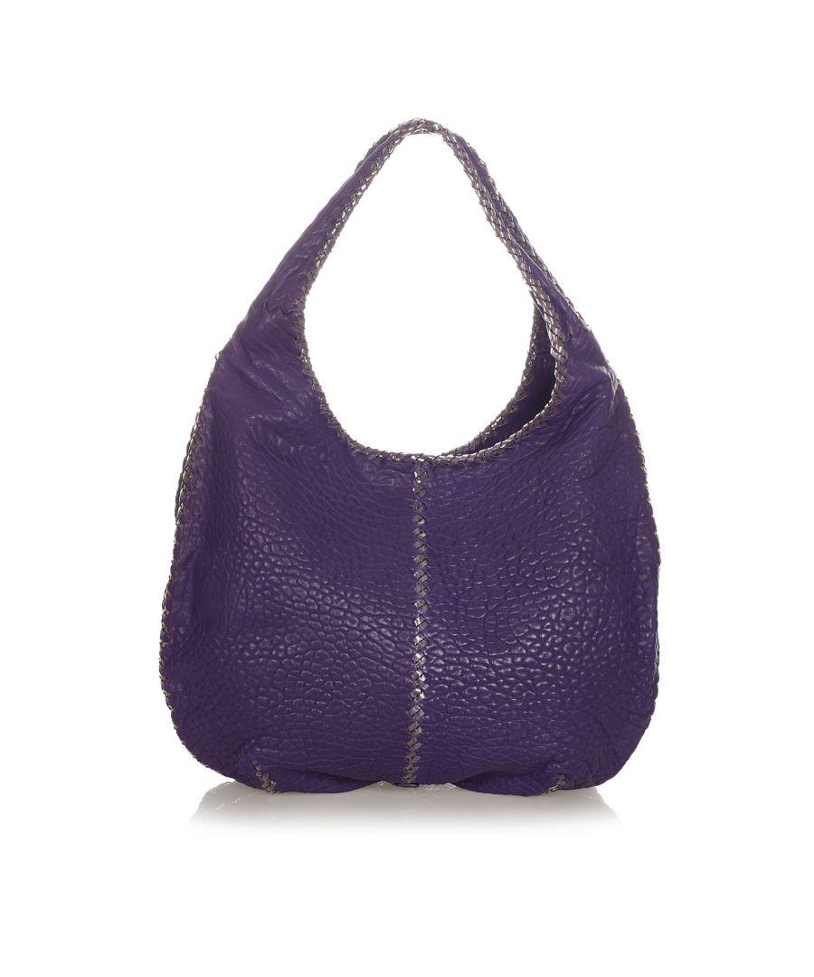 Image for Vintage Bottega Veneta Leather Hobo Bag Purple