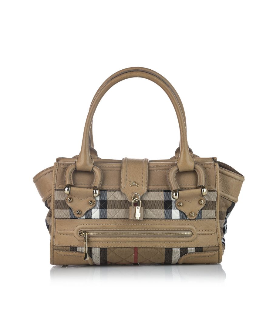Image for Vintage Burberry Alchester Canvas Manor Bag Brown