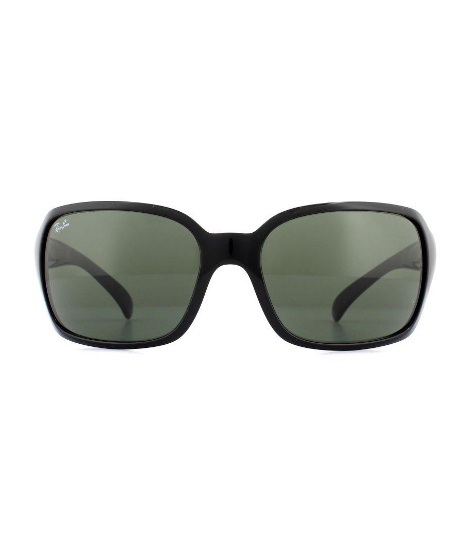 Image for New Ray-Ban Sunglasses 4068 601 Black Crystal Green