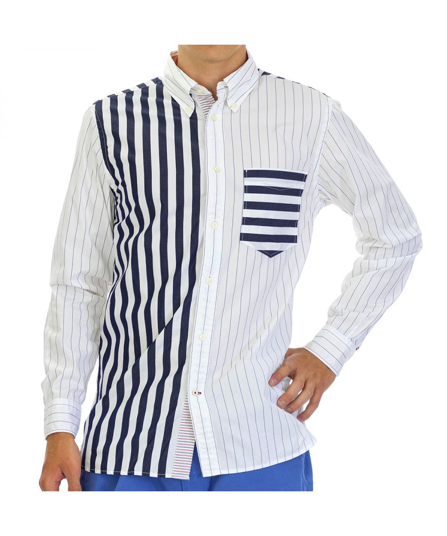 Image for Tommy Hilfiger Men's Shirt with Long Sleeve Multicolor