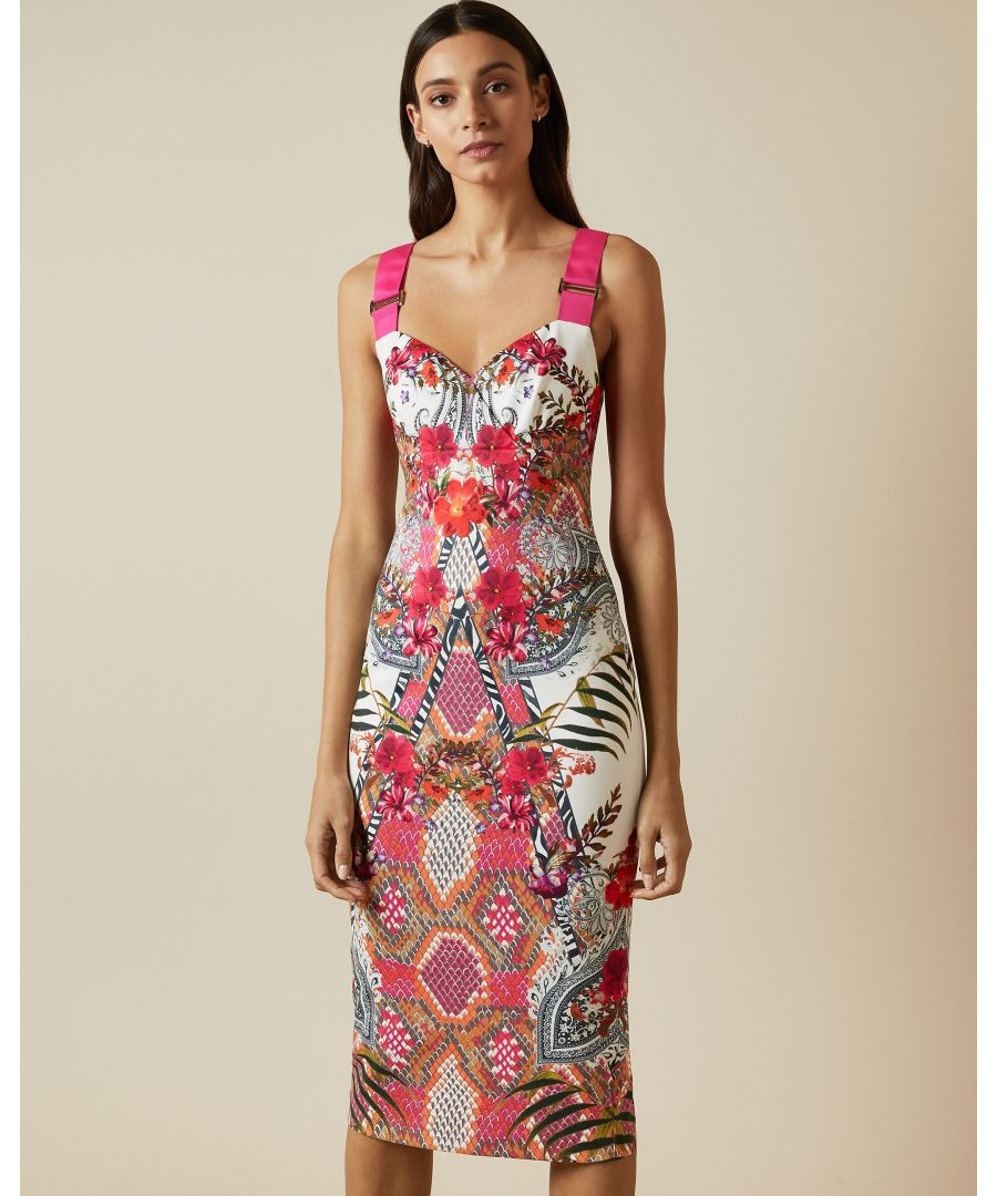 Image for Ted Baker Kloeey Samba Strappy Bodycon Dress, Ivory