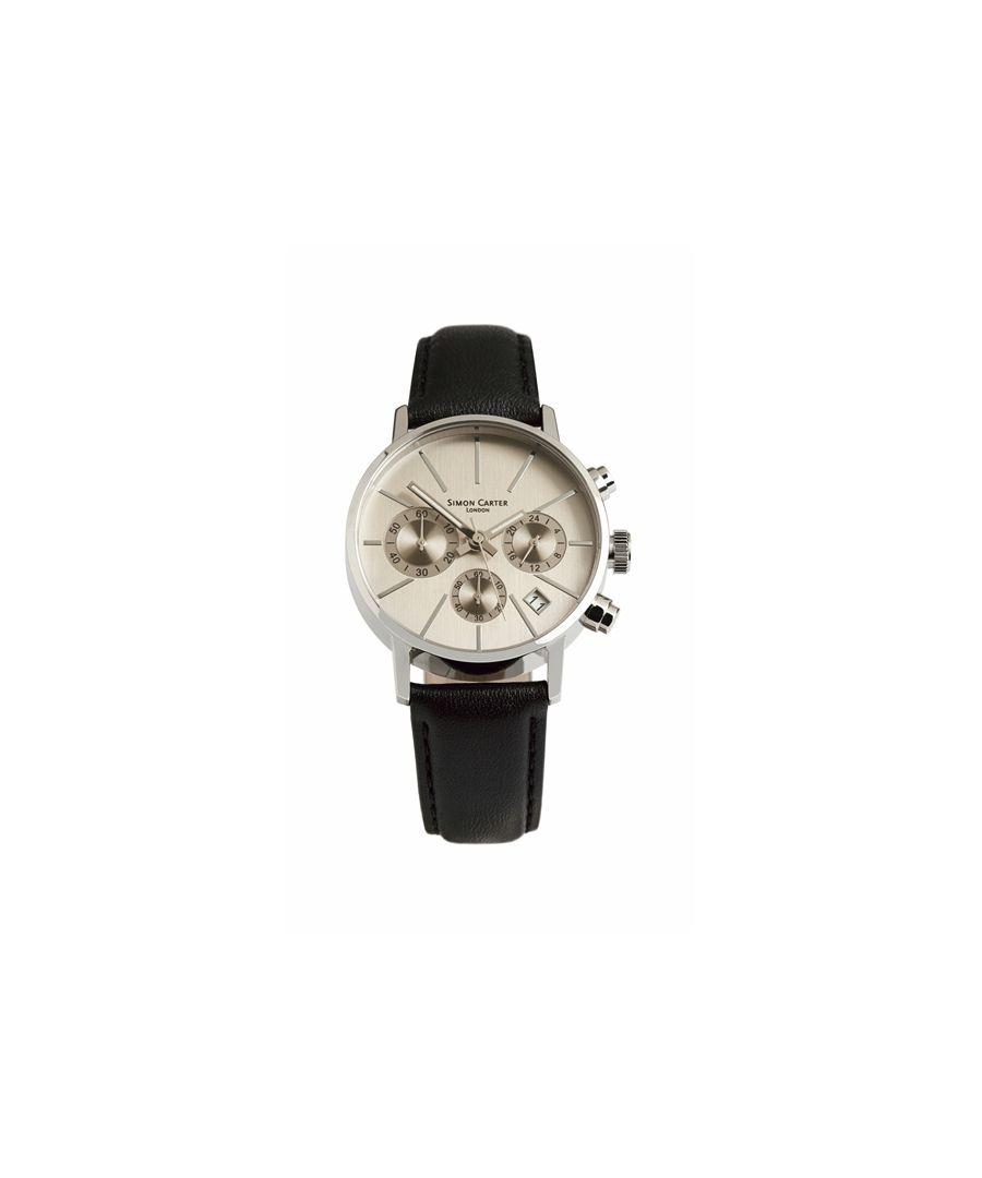 Image for Simon Carter LT001 Chronograph Watch Silver Grey