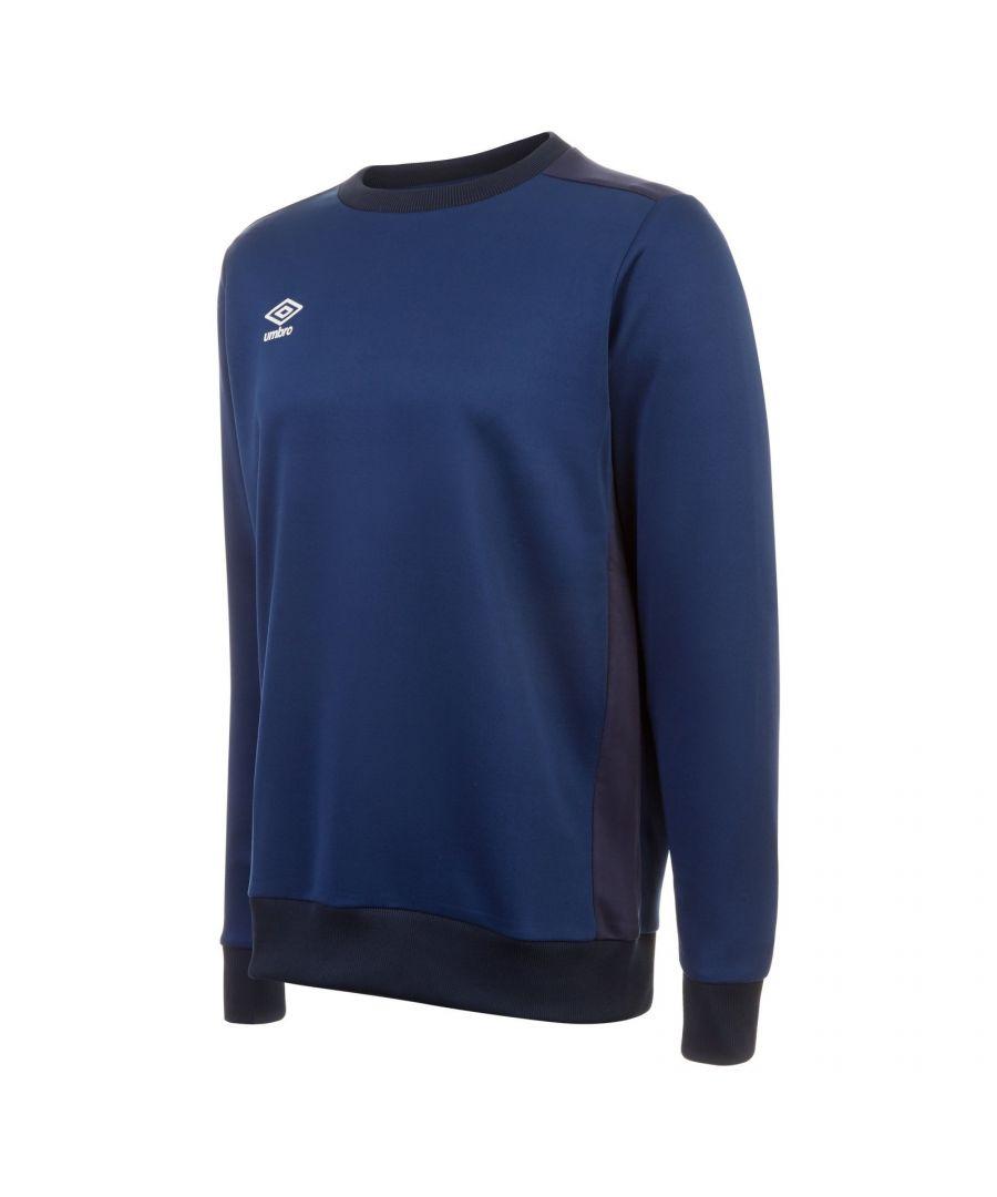 Image for Umbro Boys Fleece Training Sweatshirt (Navy/Dark Navy)