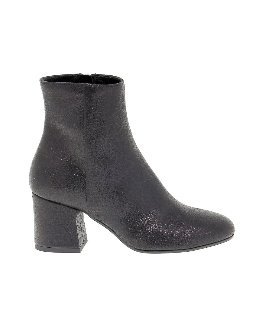Image for POLLINI WOMEN'S SA21176C16TT0000 BLACK POLYESTER ANKLE BOOTS