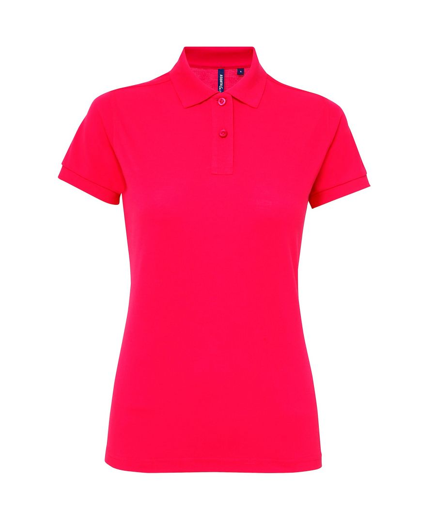 Image for Asquith & Fox Womens/Ladies Short Sleeve Performance Blend Polo Shirt (Hot Pink)