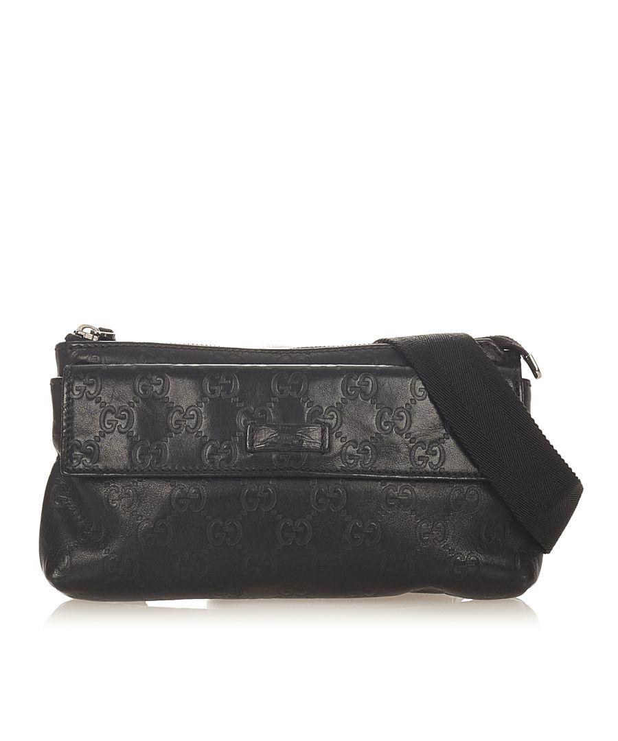 Image for Vintage Gucci Guccissima Belt Bag Black