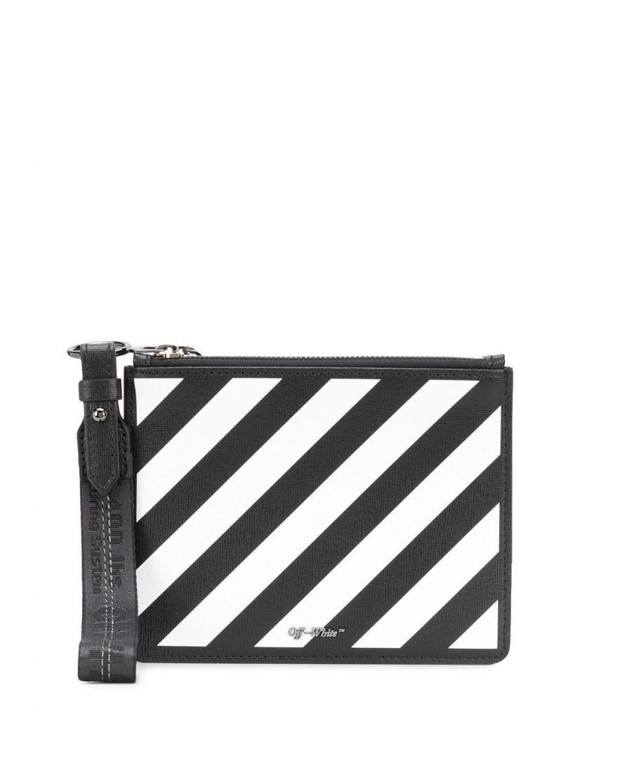 Image for OFF-WHITE WOMEN'S OWNA048S20LEA0011001 BLACK LEATHER POUCH