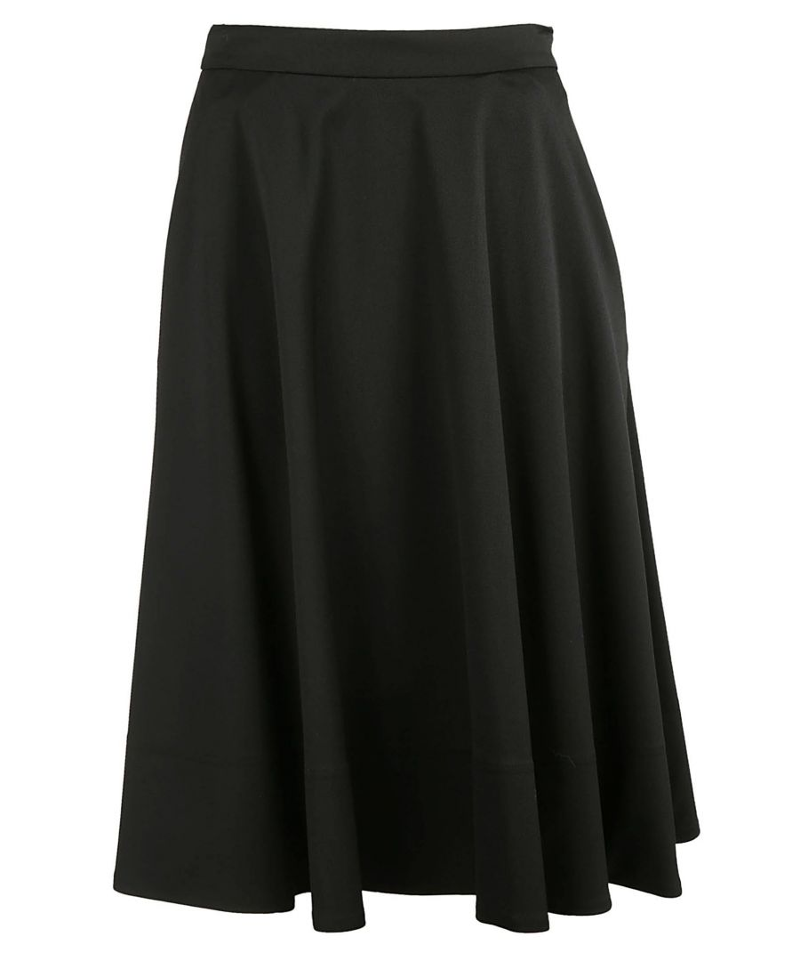 Image for CALVIN KLEIN WOMEN'S K20K200561013 BLACK COTTON SKIRT