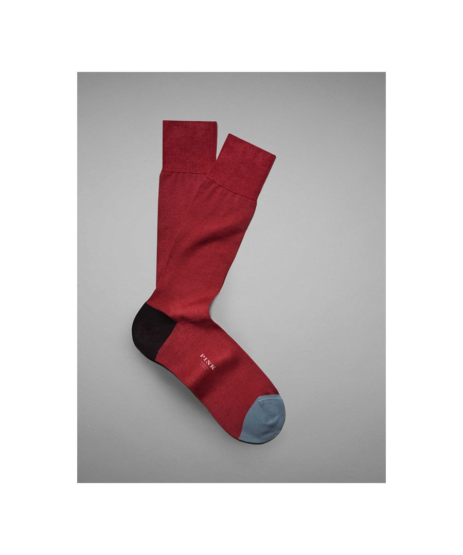 Image for Contrast Heel and Toe Socks