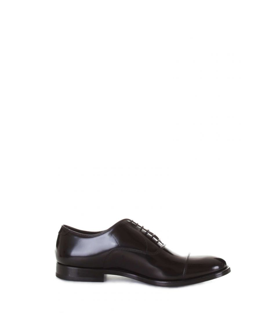 Image for DOUCAL'S MEN'S DU1001PRESUF007NN00 BLACK LEATHER LACE-UP SHOES