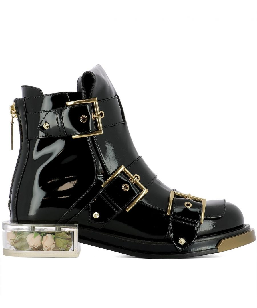 Image for ALEXANDER MCQUEEN WOMEN'S 520721WHS701000 BLACK LEATHER ANKLE BOOTS