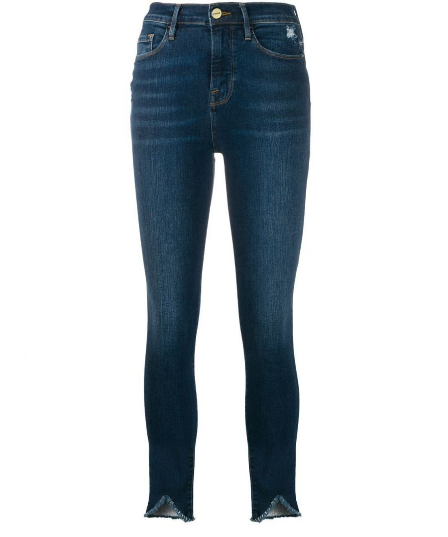 Image for FRAME WOMEN'S AHRSTR079VICT BLUE COTTON JEANS