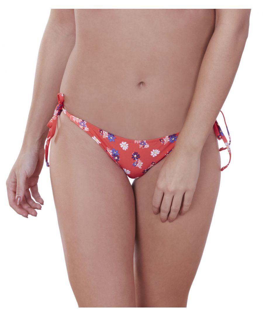 Image for Daisy Print Tie Side Bikini Brief
