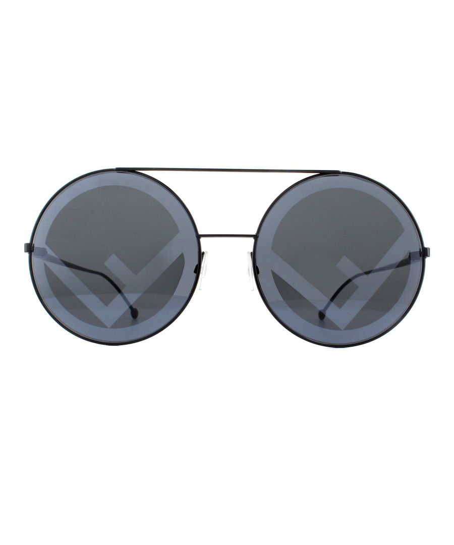 Image for Fendi Sunglasses 0285/S 807 MD Black Grey with Fendi Statement