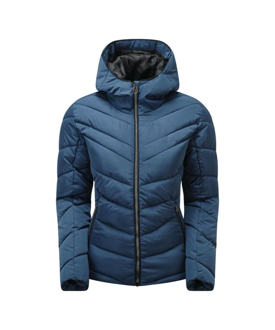 Image for Dare 2b Womens Reputable Warm Quilted Hooded Jacket Coat