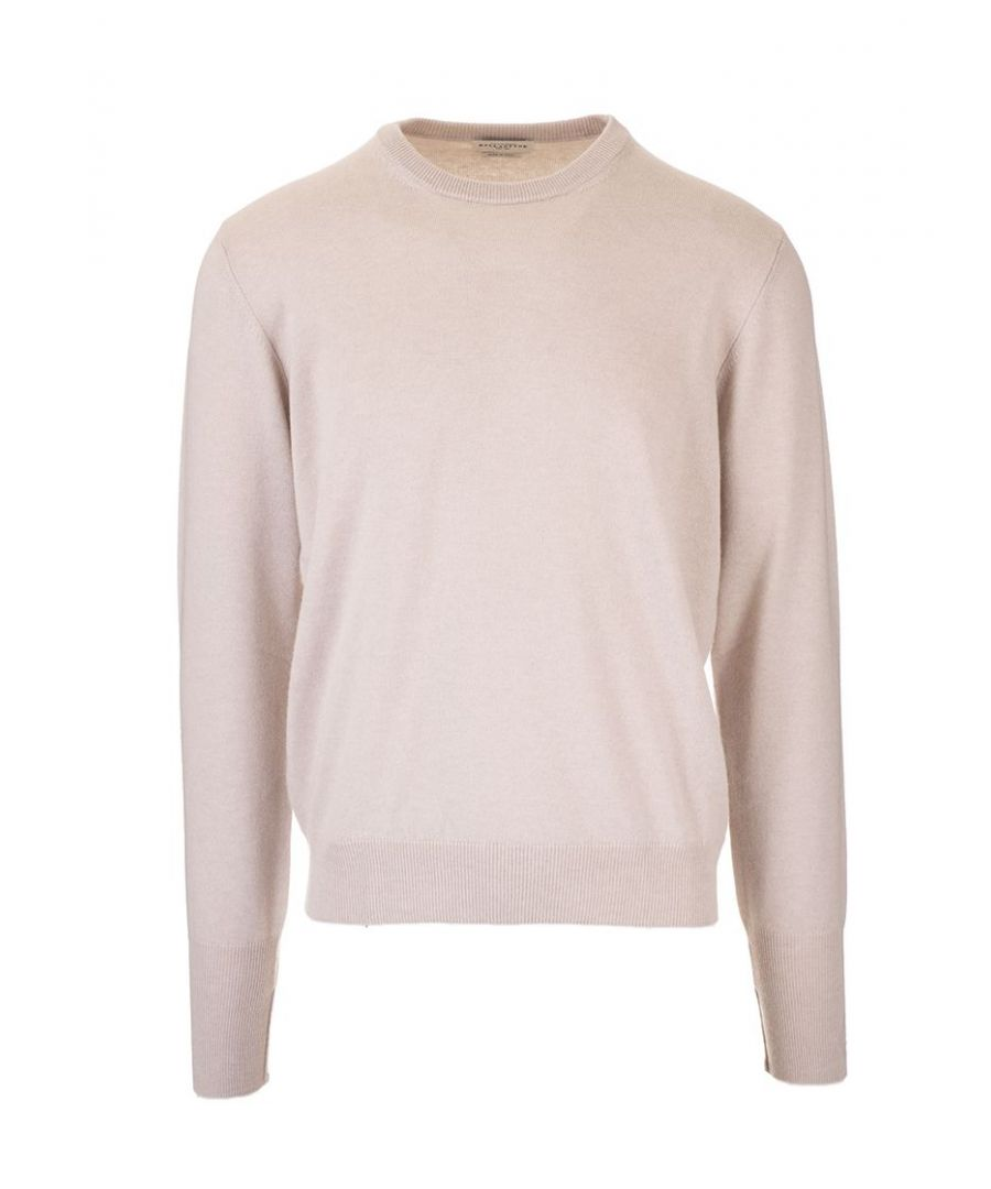 Image for BALLANTYNE MEN'S P2P00012K0010012 BEIGE CASHMERE SWEATER