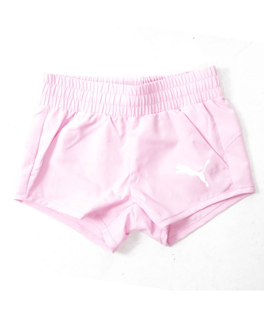Image for Puma Active Dry Essential Girls Short Pink - 3-4 Years