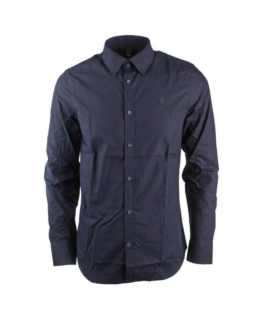 Image for G-Star Likorm Core Shirt L/S Stanley Poplin Mazarine Blue Shirt