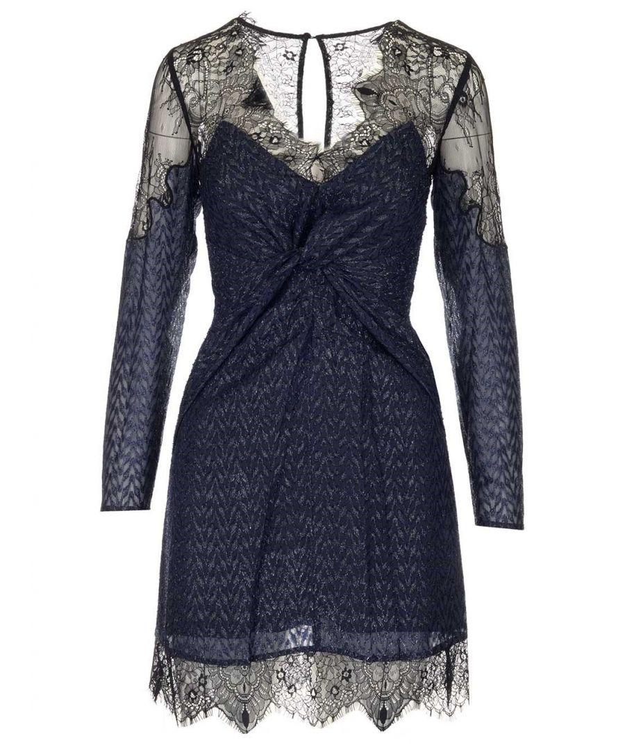 Image for SELF-PORTRAIT WOMEN'S SP23028SNAVY BLUE POLYESTER DRESS