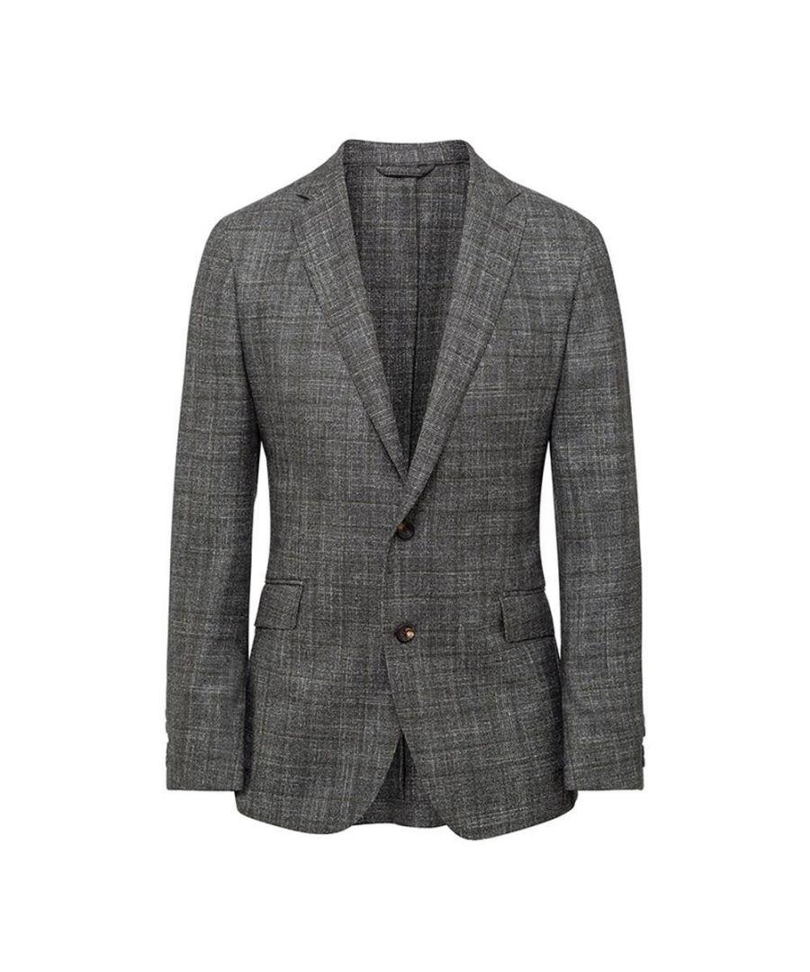 Image for Men's Hackett, Mayfair Moulinet Glen Check Jacket in Moss Green