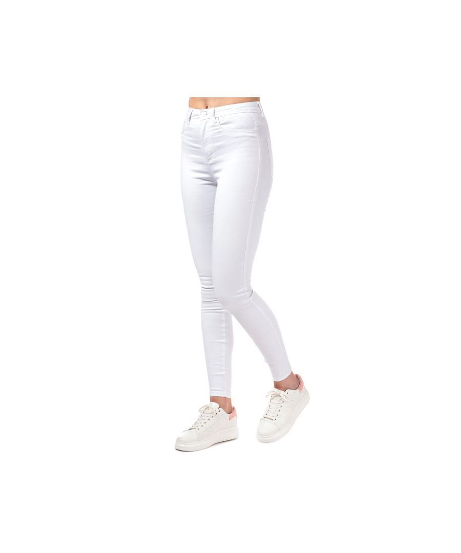 Image for Women's Only Royal Life High Waist Skinny Jeans in White