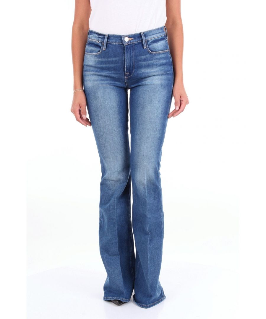 Image for FRAME WOMEN'S LHF969CLAPPSBLUJEANS BLUE COTTON JEANS