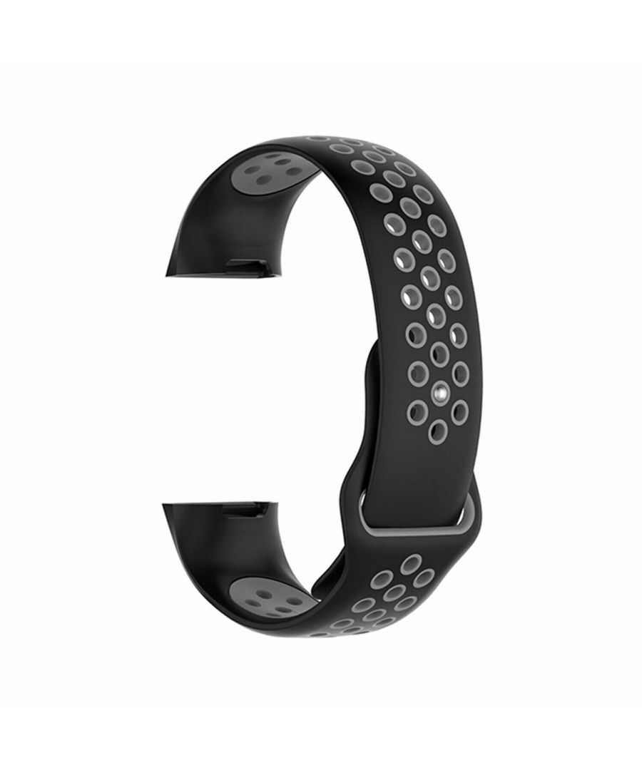 Image for Aquarius Nike Silicone Watch Band for Fitbit Charge 3 Black/ Grey Small