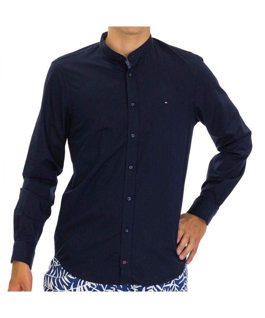 Image for Tommy Hilfiger Men Shirt Poplin Slim Fit  Full sleeve Blue