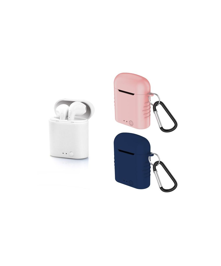 Image for Bluetooth Headset with Microphone Contact Twins Mini 400 mAh White