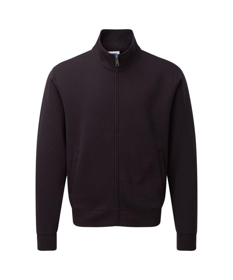 Image for Russell Mens Authentic Full Zip Sweatshirt Jacket (Black)