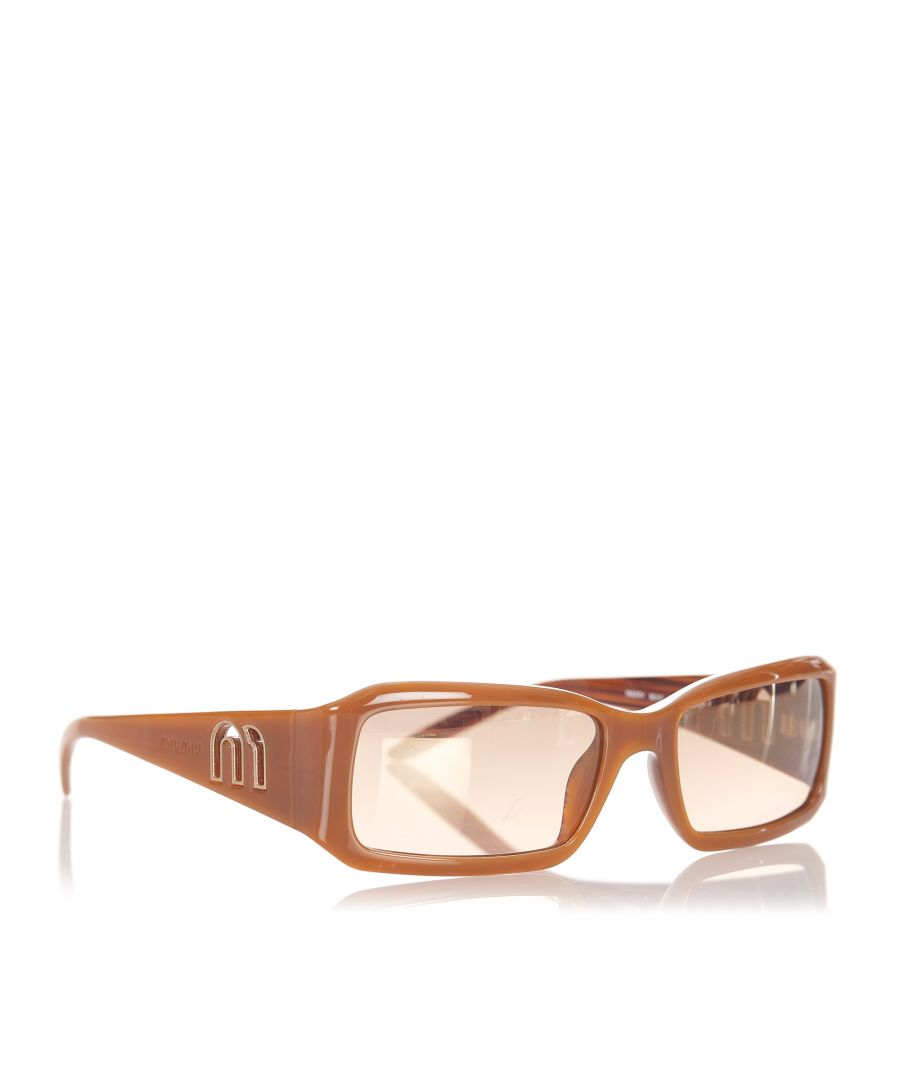 Image for Vintage Miu Miu Square Tinted Sunglasses Brown