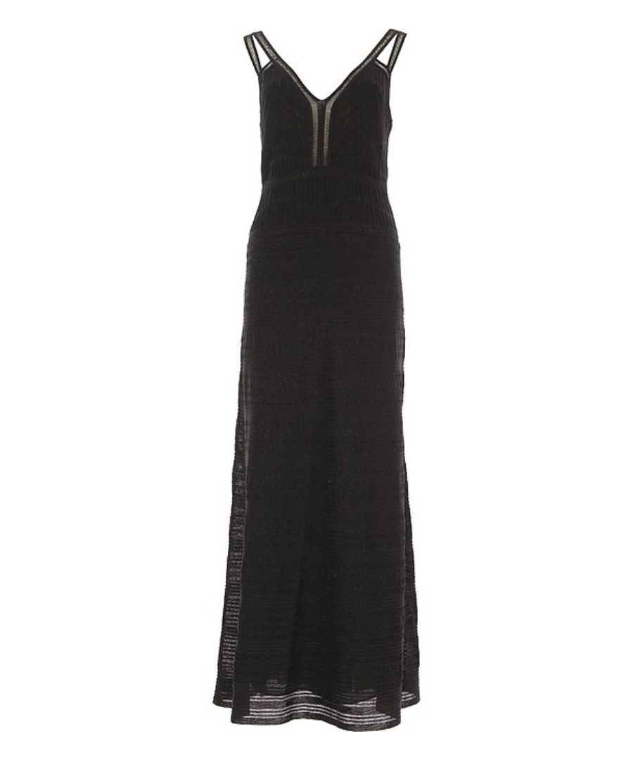Image for M MISSONI WOMEN'S 2DG000992K000G93911 BLACK VISCOSE DRESS