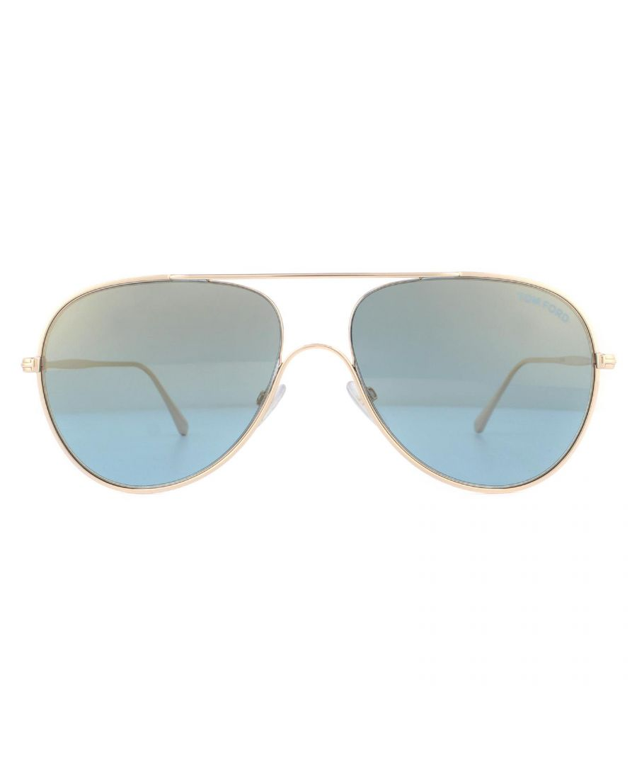 Image for Tom Ford Sunglasses Anthony FT0695 28X Shiny Rose Gold Blue Mirror
