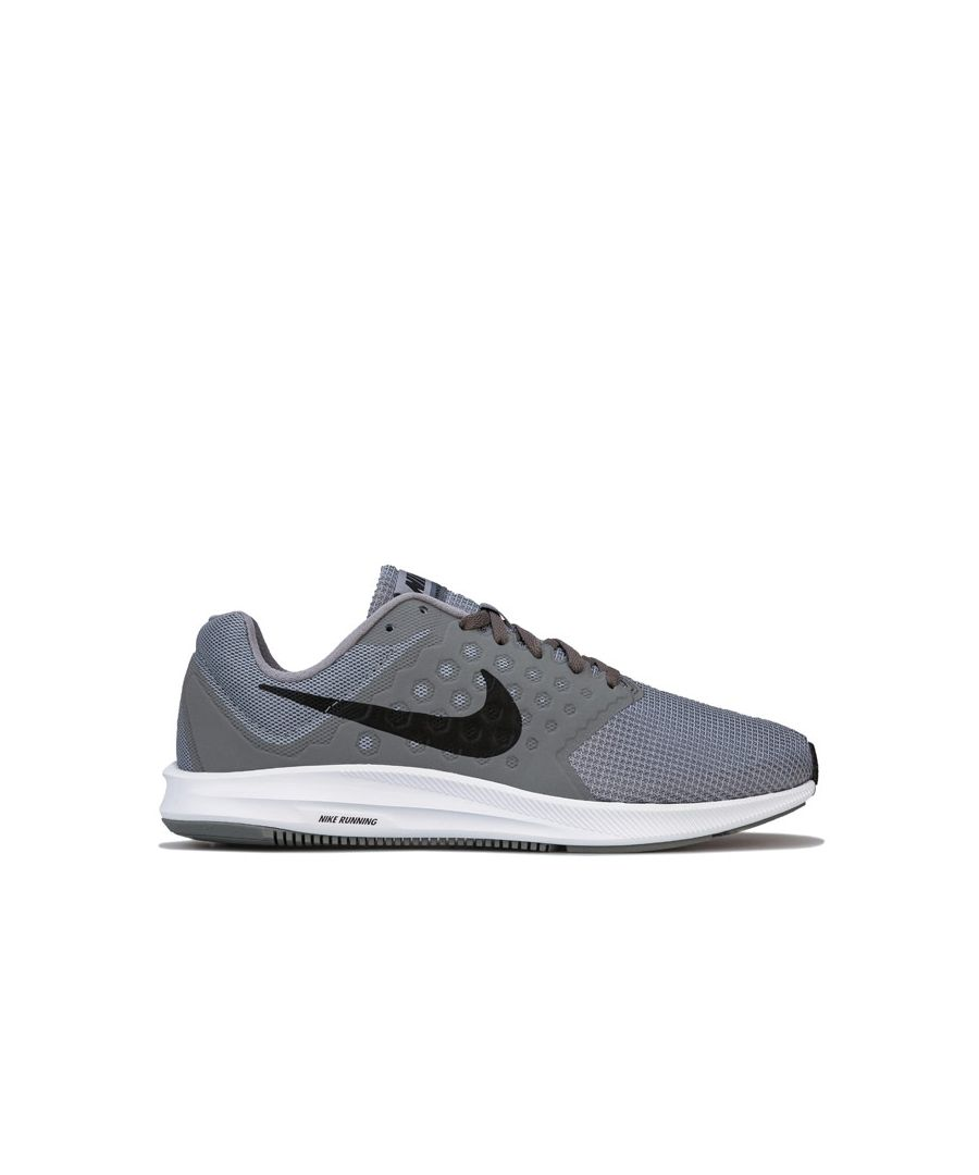 Image for Men's Nike Downshifter 7 Running Trainers in Grey White