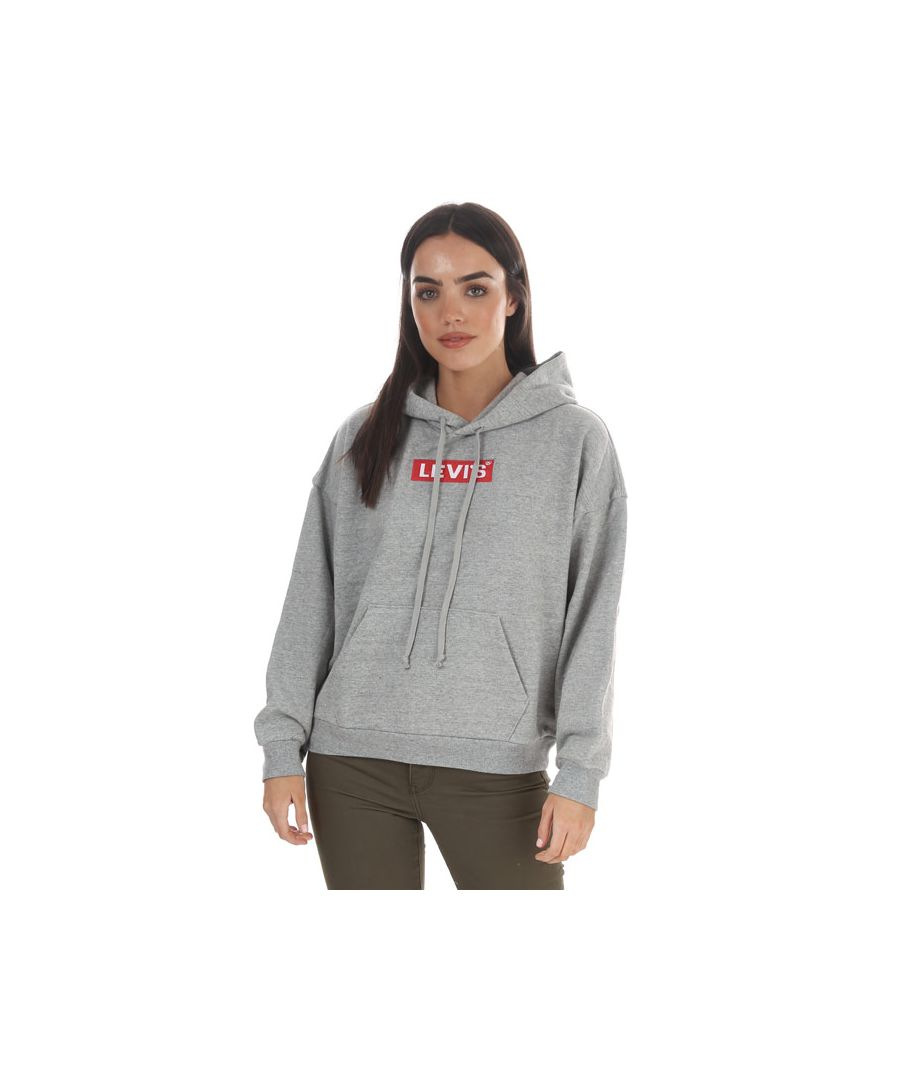 Image for Women's Levis Graphic 2020 Hoody Grey Marl 4in Grey Marl