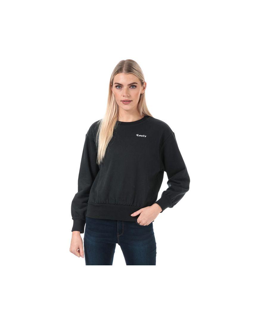 Image for Women's Levis Lady Luck Crew Sweatshirt in Black