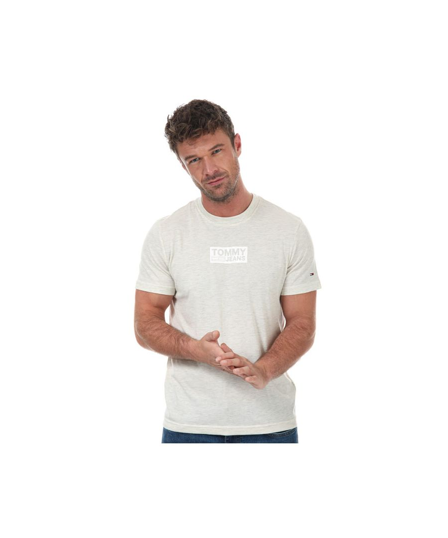 Image for Men's Tommy Hilfiger Tonal Box Logo T-Shirt in White marl